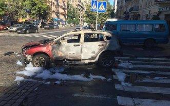 Фото с места убийства журналиста в Киеве - фото 1