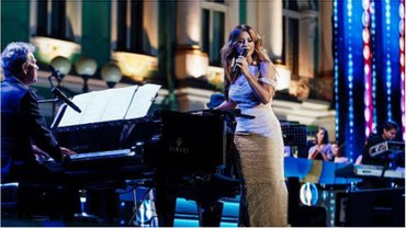Ани Лорак выступила на концерте, посвященном ВМФ России. - фото 1