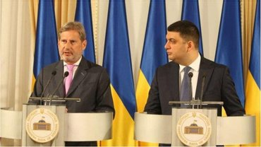 Еврокомиссар Йоханнес Хан высоко оценил работу украинского правительства. - фото 1