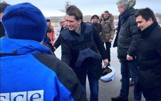 Министр иностранных дел Австрии начал визит на Донбасс - фото 1