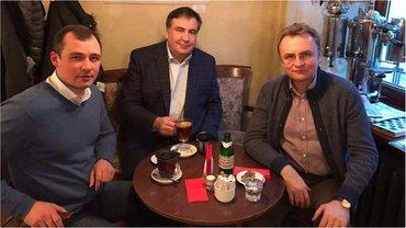 Саакашвили встретился с Андреем Садовым и Василием Гацько - фото 1