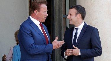 Глава Франции встретился с бывшим губернатором Калифорнии - фото 1