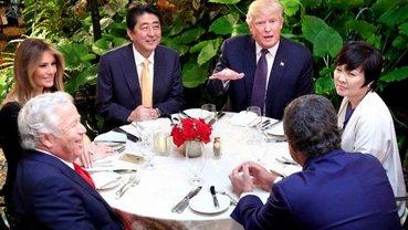 Ужин Трампа и премьер-министра Японии Синдзо Абэ - фото 1