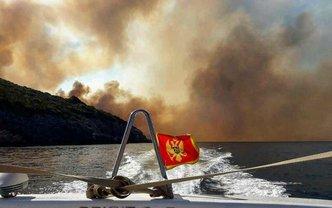 Сильный пожар в Черногории - фото 1