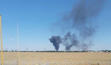 "Спасатели тушат пожар на нефтебазе ""Рассвет"" - фото 1"