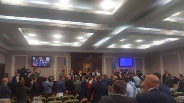 Драка депутатов в Киевском облсовете - фото 1