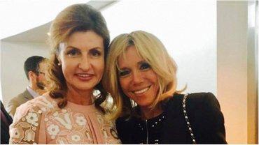 Марина Порошенко встретилась с Бриджит Макрон - фото 1