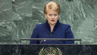 Грибаускайте заявила, что Россия шантажирует мир, как и КНДР - фото 1
