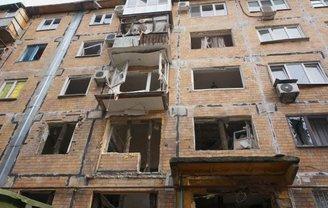 В центре Донецка взорвался жилой дом - фото 1