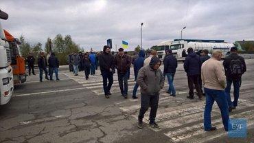 Шахтеры перекрыли движение в Волынской области  - фото 1