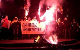 Чучело Ленина сожгли в центре Киева - фото 1