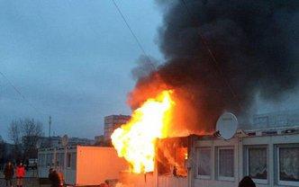 В модульном городке начался пожар - фото 1