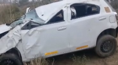 Автомобиль с украинками вылетел с трассы и перевернулся - фото 1