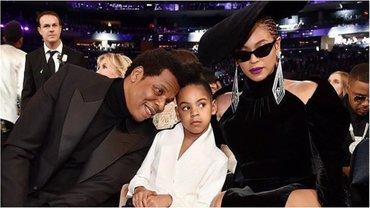 Бейонсе, Jay-Z и Блю Айви на Грэмми-2018 - фото 1