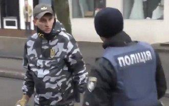 В Кременчуге Национальные дружины избили полицейских, ВИДЕО - фото 1