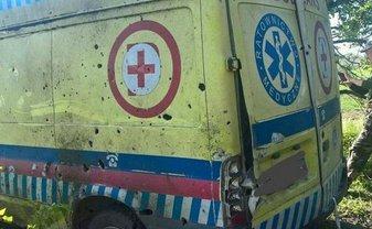 Оккупанты били по санитарной машине из минометов - фото 1