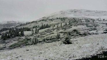 на горнолыжном курорте Драгобрат слой снега достиг в несколько сантиметров толщиной - фото 1