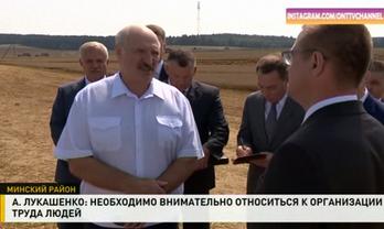 Лукашенко показали по беларусском телевидению - фото 1