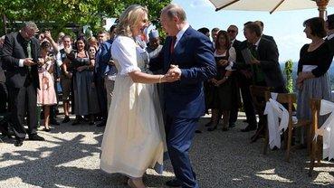 Путин с главой МИД Австрии Кнайсль - фото 1