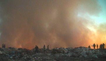 В Харьковской области горит свалка - фото 1
