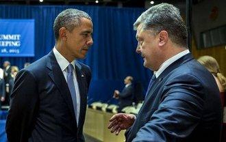 "Порошенко объясняет президенту США, куда дел ""тарелку"" - фото 1"