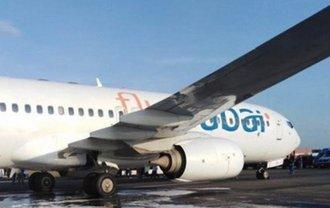 В одесском аэропорту во время взлета задымился самолет - фото 1