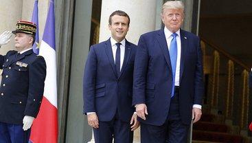 Трамп и Макрон в Париже - фото 1