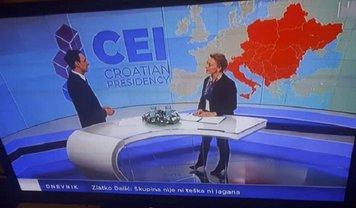 В Хорватии в эфире телеканала показали Украину без Крыма - фото 1