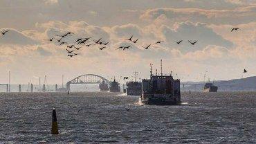 Русские дали торговым кораблям проплыть через Керченский пролив - фото 1