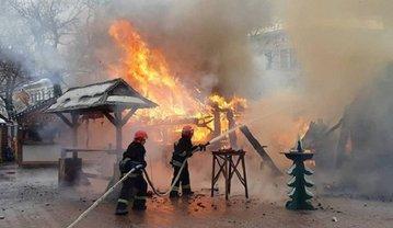 В центре Львова на ярмарке взорвали газовый баллон - фото 1