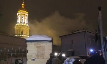 Киево-Печерскую Лавру поджег бомж - фото 1