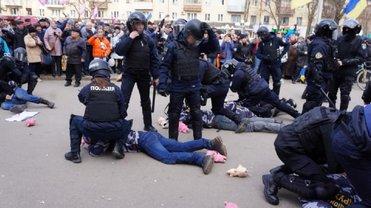 На митинге Порошенко в Полтаве полиция после потасовок задержала активистов - фото 1