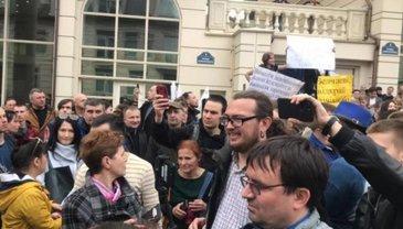 У штаба Зеленского проводят проплаченный митинг - фото 1