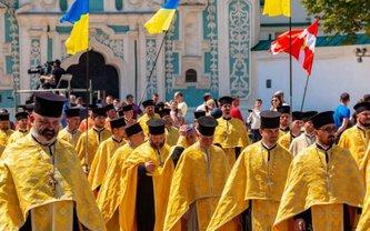 В крестном ходе ПЦУ участвовали более 25 тысяч человек - фото 1