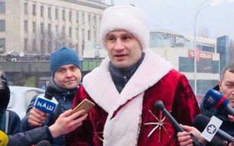 Дед Мороз Кличко открыл отдохнувший мост – ФОТО, ВИДЕО - фото 1