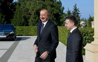 Ильхам Алиев и президент Украины - фото 1