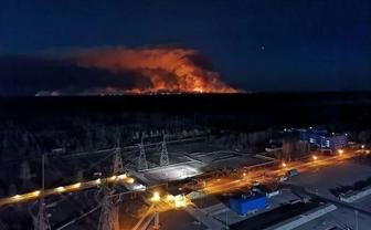 Пожар в Зоне отчуждения продолжает бушевать - фото 1