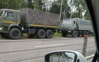 У границ Беларуси замечены колонны русских оккупантов - ФОТО - фото 1