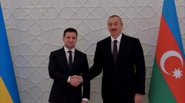 Ильхам Алиев и Владимир Зеленский - фото 1