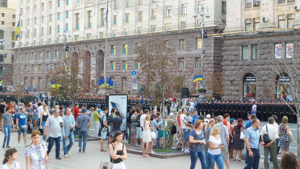 В Киеве проходит финальная репетиция военного парада ко Дню Независимости  - фото 9738
