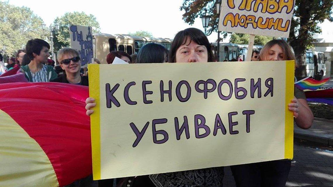 Полиция задержала 20 человек за попытку устроить беспорядки на Марше равенства в Одессе - фото 8589