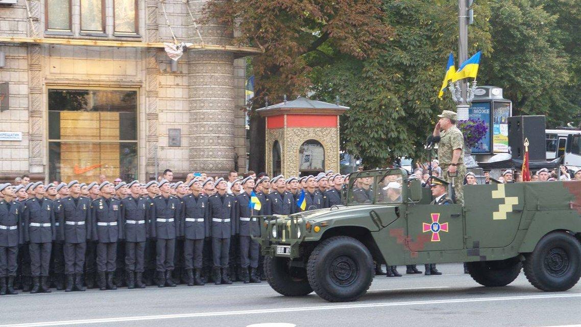 В Киеве проходит финальная репетиция военного парада ко Дню Независимости  - фото 9737