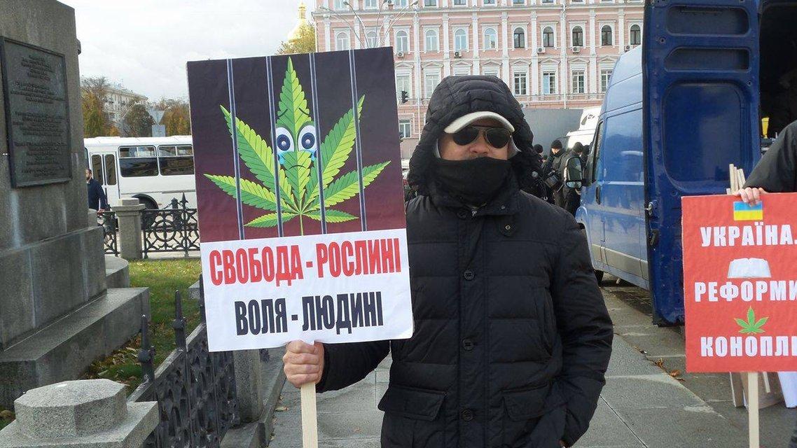 В Киеве прозошли потасовки между противниками и сторонниками легализации марихуаны - фото 19249