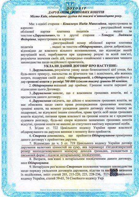 Тетерук пояснил, кто подарил ему 700 тысяч гривен - фото 19546