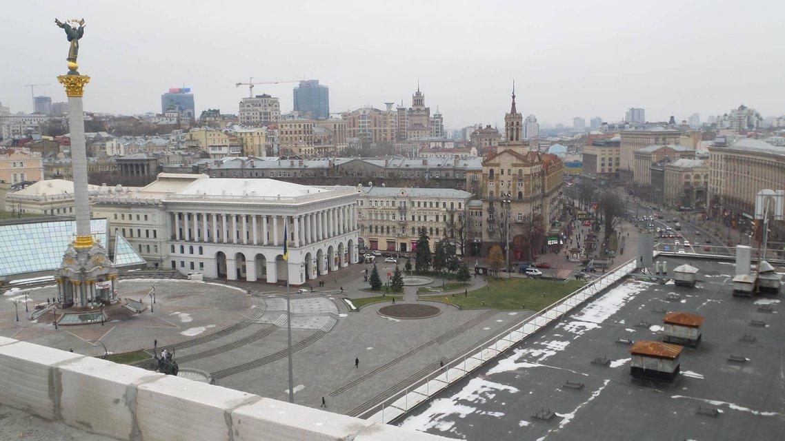 В Киеве начат снос двух этажей, пристроенных над Домом профсоюзов  - фото 22998