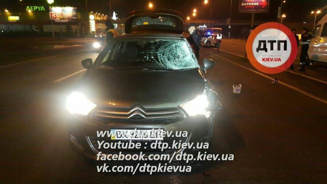 Смертельное ДТП в Киеве: Ситроен сбил пешехода-нарушителя - фото 22592