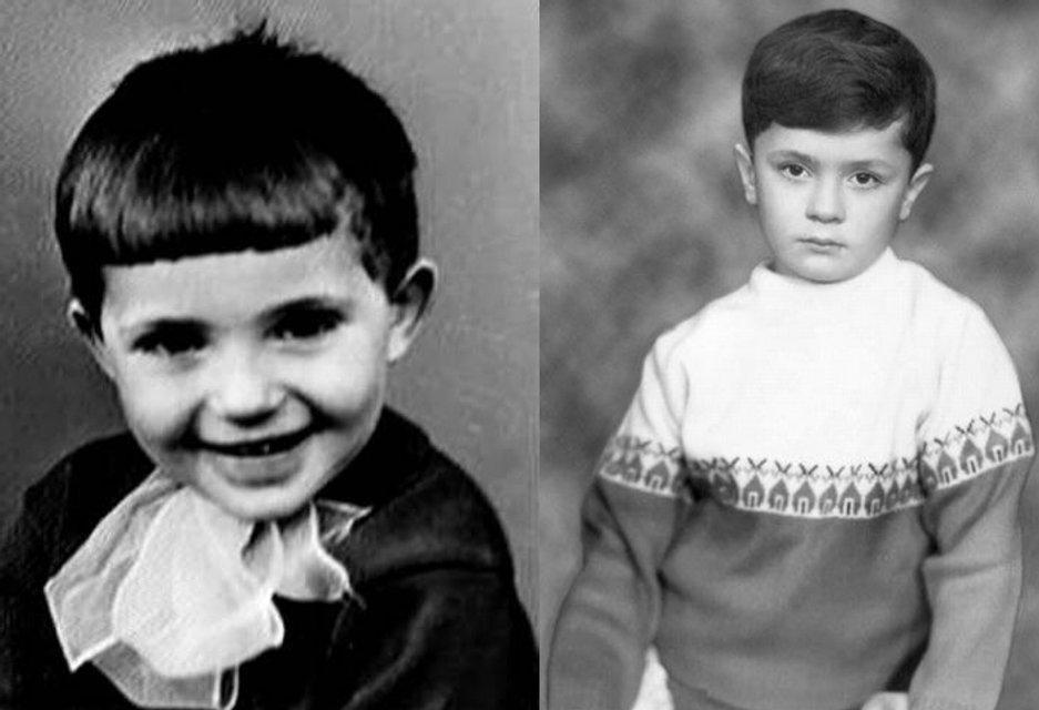 Молодые Янукович и Порошенко
