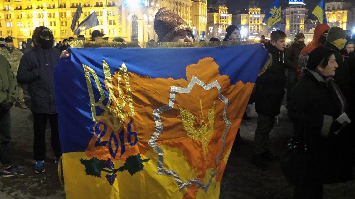 На Майдан свозят шины и призывают громить офис Медведчука - фото 22772