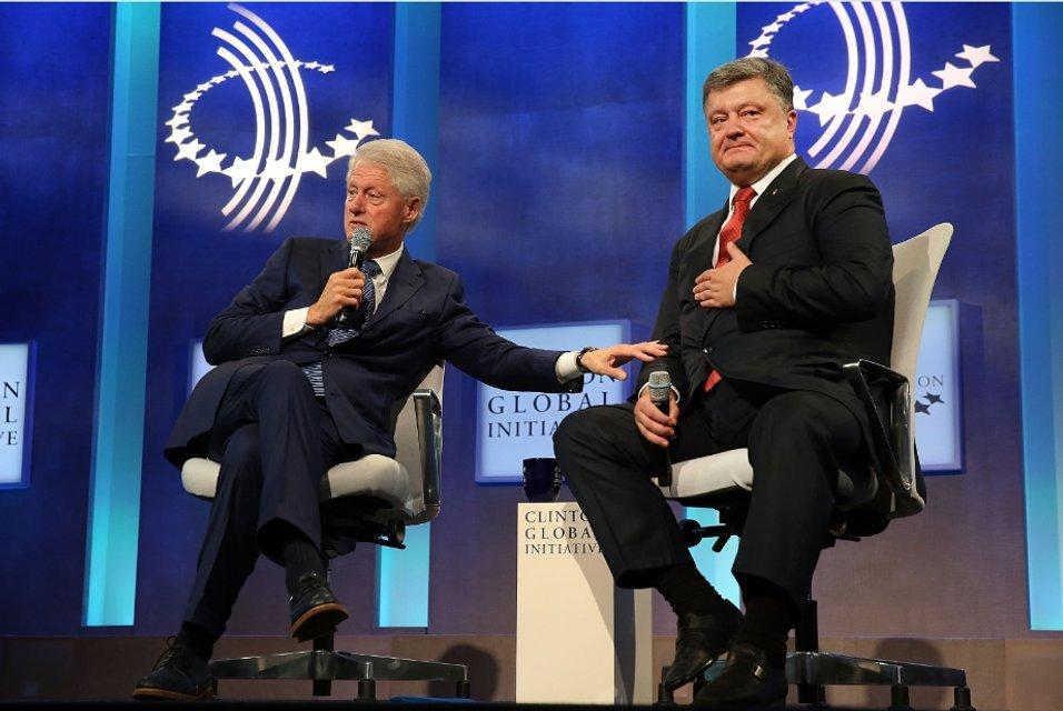 Президент Клинтон и президент Порошенко - фото 22387