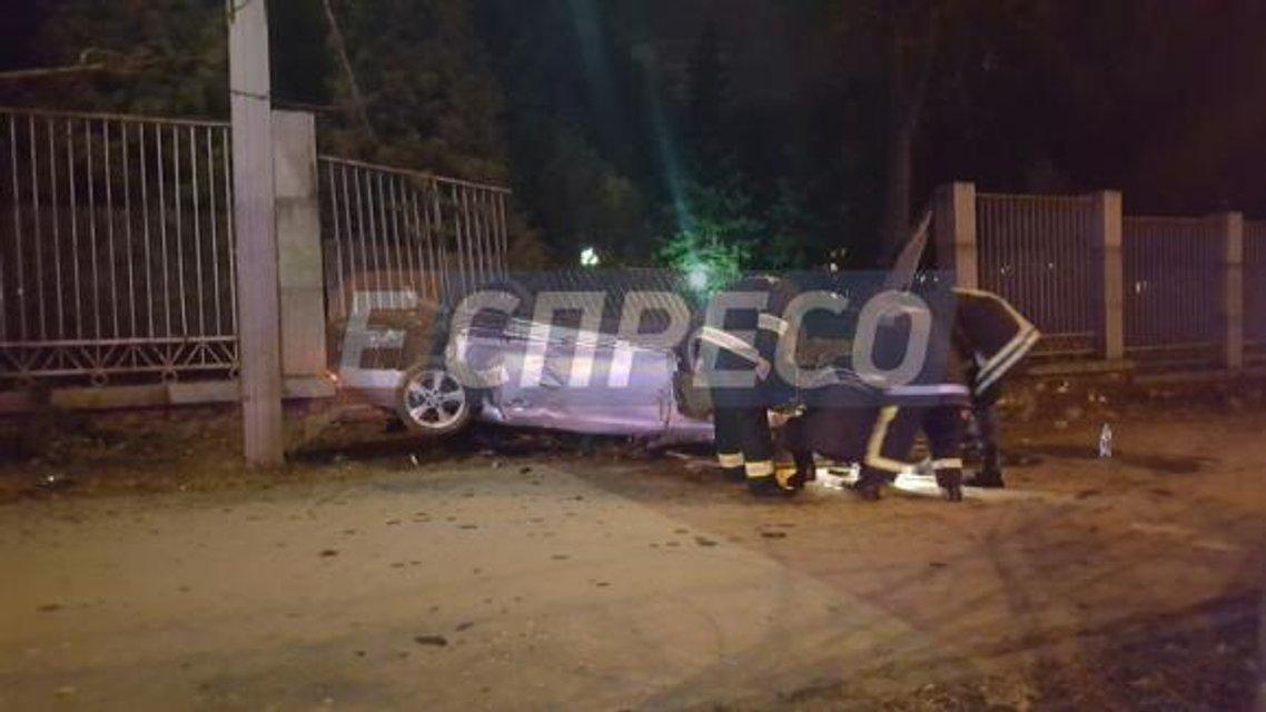 Спортивный автомобиль снес ограждение киевского зоопарка, есть погибшие - фото 23604